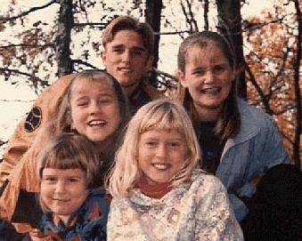 Kids at Cumberland Gap 1996
